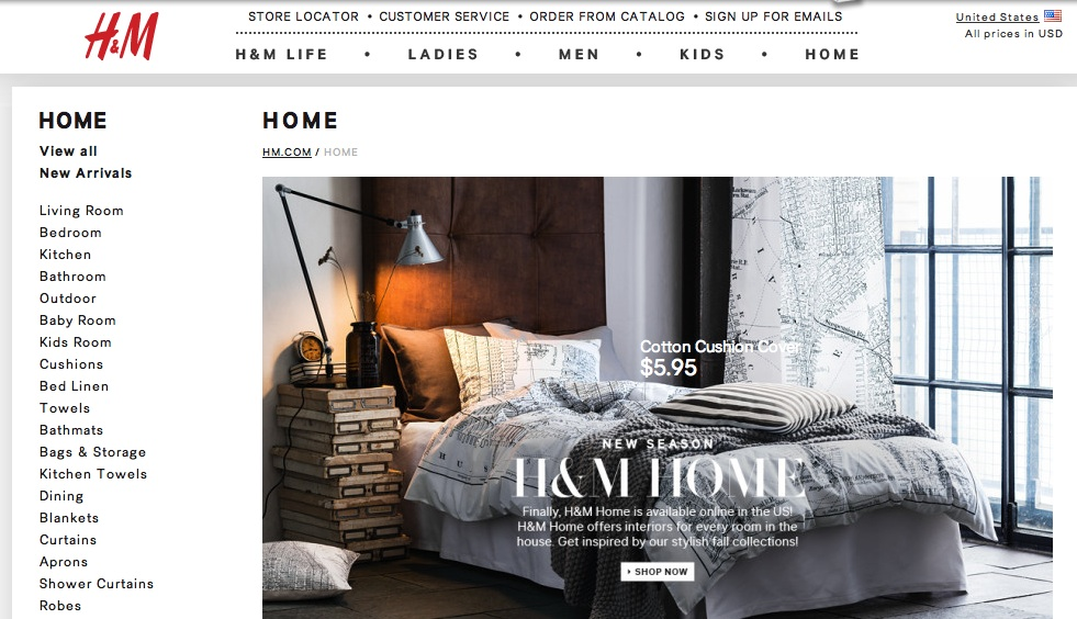 Hm Launches Online In The Us The Social Ny