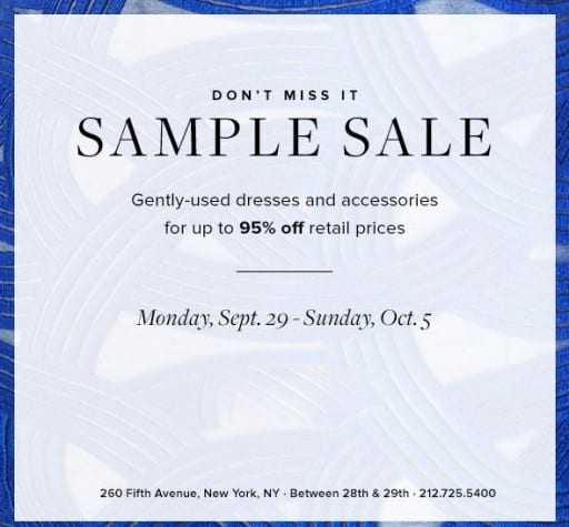 Go Shopping: Rent The Runway Sample Sale | The Social NY
