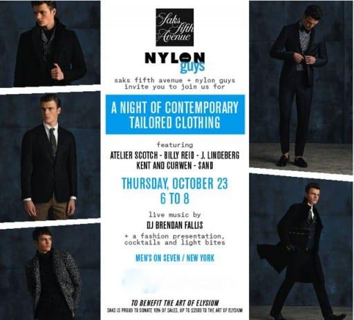 Saks Fifth AvenueHostsA Night of Contemporary Tailored Clothing