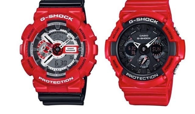 gshock red theme pair