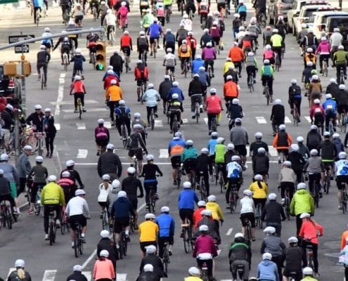 This Year's Five Boro Bike Tour Event Celebrated Its 40th Anniversary